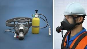 Respirator-Self contained breathing apparatus-gas detector